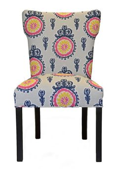 Calandra Cotton Wingback Cotton Side Chair