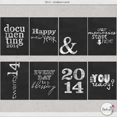 2014 journaling cards
