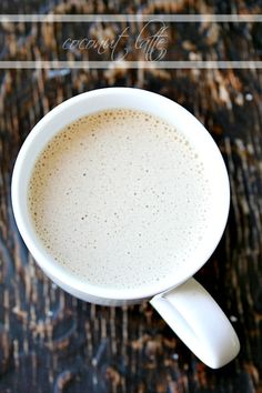 coconut latte {with coconut oil} no dairy - heathersfrenchpress.com #coffee#coconutoil