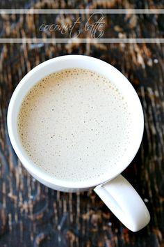 coconut latte {with coconut oil} no dairy - heathersfrenchpress.com #coffee #coconut