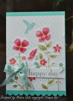 Stampin'Up! Wildflower Meadow stamp & embossing folder - really beautiful card