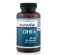 DHEA 25mg 180 Capsules | EuroVital