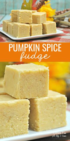 Pumpkin spice fudge is your new yummy fall obsession. It is by far one of the most delicious fudge recipes I've ever tasted. Pumpkin Recipes, Fall Recipes, Holiday Recipes, Easy Pumpkin Fudge Recipe, Candied Pumpkin Recipe, How To Make Fudge, Making Fudge, Candy Making, Delicious Fudge Recipe
