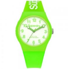 Unisex Superdry Urban Neon Green Silicone Watch SYG164NW