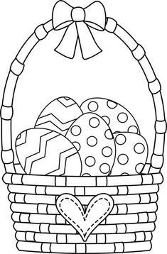 Easter Basket Coloring Pages Make your world more colorful with free printable coloring pages from italks. Our free coloring pages for adults and kids. Easter Coloring Pages Printable, Easter Bunny Colouring, Easter Egg Coloring Pages, Coloring Pages For Kids, Coloring Book, Free Easter Printables, Easter Coloring Pictures, Easter Drawings, Easter Religious