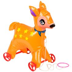 Faon Gonflable à Tirer - Inflatable Deer - Pivoine et Tapioca