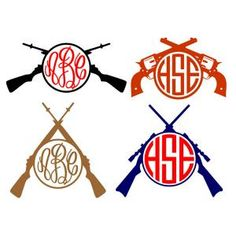 Cross Gun Hunting Round Circle Frame Monogram Cuttable Design Cut File. Vector, Clipart, Digital Scrapbooking Download, Available in JPEG, PDF, EPS, DXF and SVG. Works with Cricut, Design Space, Sure Cuts A Lot, Make the Cut!, Inkscape, CorelDraw, Adobe Illustrator, Silhouette Cameo, Brother ScanNCut and other compatible software.