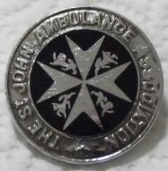 THE ST JOHN AMBULANCE ASSOCIATION VINTAGE UNIFORM ENAMEL BADGE | eBay