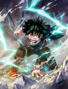 Izuku Midoriya / Deku (My Hero Academia) My Hero Academia Episodes, My Hero Academia Memes, Hero Academia Characters, My Hero Academia Manga, Anime Characters, Anime Figures, Anime Boys, Manga Anime, Fanarts Anime