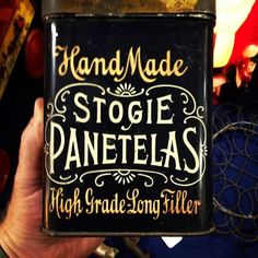 Stogie tin discovered at Scott Antique Show in Columbus, OH.  #typehunter #typediscovery #vintagelabel