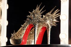These are some REALLY racy and dangerous @Louboutins! They need to clear the way if you are wearing these babies...