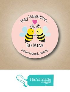 Bee Mine - Valentine Stickers from Stick 'em up labels https://www.amazon.com/dp/B01N1WV0Z3/ref=hnd_sw_r_pi_dp_nUPzybFCNG6DN #handmadeatamazon