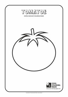 simple and easy coloring pages for toddlers tomatoe