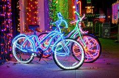 Tube Light Up Bike | 20 DIY Ways To Pimp Your Bike...i'm thinking christmas time