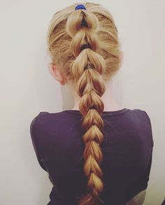 A simple pull through braid today #pullthroughbraid #pullthrough #braids #braid #hairforschool #hairforlittlegirls #longhair #girlyhair #braidymom