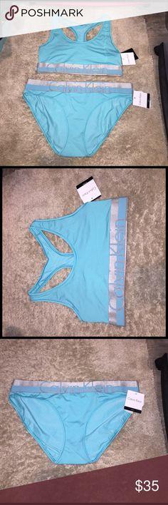 CK bralette and bikini underwear Brand new, both medium. I will sell separately if you ask!🤗 Calvin Klein Intimates & Sleepwear Bras