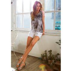 Short tissu effet dentelle pur coton Brigitte Bardot, Short, Shopping, Collection, Initials, Dresses, Fashion, Womens Fashion, Lace