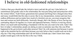 old-fashioned relationships <3