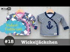 Wickeljäckchen für Babys selber nähen  -  DIY-Näh-Tutorial - YouTube