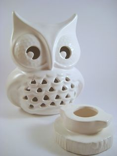 For some reason, I'm really into Owls right now. Canadian Tire has some beautiful owl Christmas decorations. If only I had a tree! modclay/Etsy  LED votive holder
