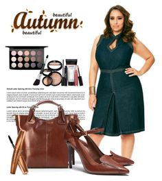 """Beautiful Autumn - Plus Size"" by plussizefashionista ❤ liked on Polyvore featuring MAC Cosmetics, Ashley Stewart, Laura Geller, Pia Sassi, Tory Burch, plussize and ashleystewart"