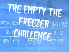 The Empty the Freezer Challenge Penny Golightly