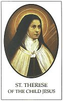 Free Download  St Therese of Lisieux Prayer Card  Offered by: The Little Flower