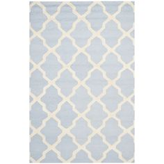 Handmade Cambridge Moroccan Light Blue Wool Rug | Overstock.com