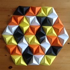 Paper Wall Art diy: geometric paper wall art | paper wall art, paper walls and