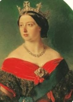 Queen Victoria wearing the Koh-i-Noor Diamond as a brooch.