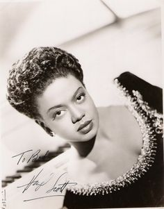 Whatchu know about Hazel Scott? She was the first black woman to have her own television show and was married to Adam Clayton Powell. She was blacklisted during the McCarthy era and her show was quickly cancelled.