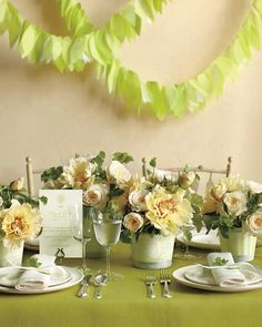 How would you use this tissue-paper garland? We see it on the walls, hanging from the ceiling, or even decorating chairs.