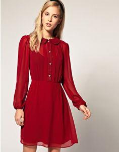 43a05b4ce ASOS Special Button Chiffon Dress  71.88 (Also comes in Navy)  Combinaciones