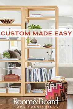 Creating a custom bookcase just got easier with our new bookcase configurator! Easily drag and drop pieces to create your unique solution.