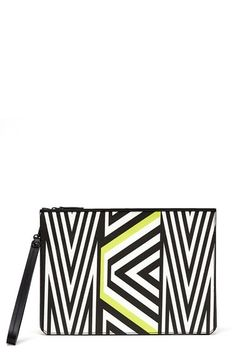 MCMxTobias Rehberger Geometric Coated Canvas Pouch