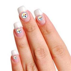 Pittsburgh Steelers 4-Pack Temporary Nail Tattoos - Gear Up For Sports ... OMG LOVE THESE!!!
