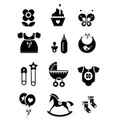 Baby icons vector by keiry - Image #902098 - VectorStock