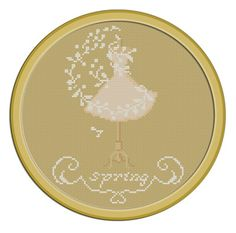 4 Seasons Spring. Instant Download PDF Cross Stitch Pattern