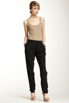 L.A.M.B. Solid Silk Pant on HauteLook