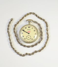 Vintage Pocket Watch MOLNIJA  Steam Engine by GeorgiVintage, $60.00