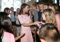 Princess Mary attended a presentation by Danish students from their artistic work within the week of the art of UNESCO.