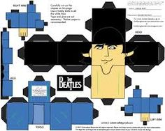 papercraft paul mccartney - Buscar con Google