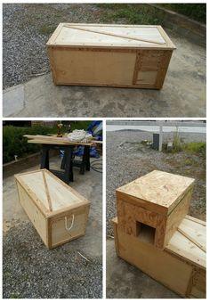 #wood #box #box in box #cat house #winter