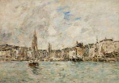 Eugène Boudin - Port de Honfleur (1897)