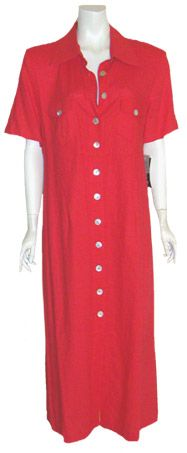Red 80s Vintage Dress by NeldasVintageClothing.com