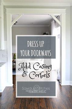 How To: DIY Craftsman Door Casing and Easy Corbels | Remodelaholic | Bloglovin'