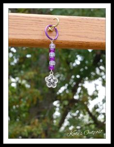 Flower Key Chain - pinned by pin4etsy.com