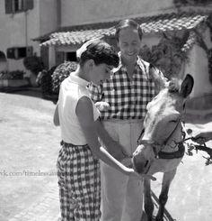 Audrey and Mel photographed by Pierluigi Praturlon at La Vigna,Italy,1955