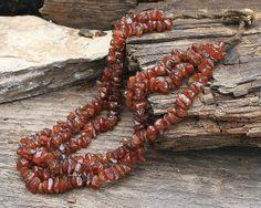 Vintage Nagaland Chip Bead Carnelian Necklace by look4treasures, $61.95