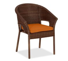 Palmetto Dining stacking Armchair Cushion Slipcover, Sunbrella® Tuscan